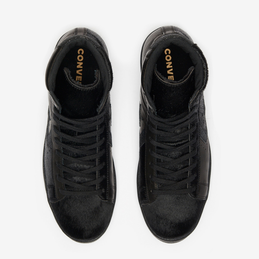 Converse Pro Leather Mid Black Pony Hair Release Date Info