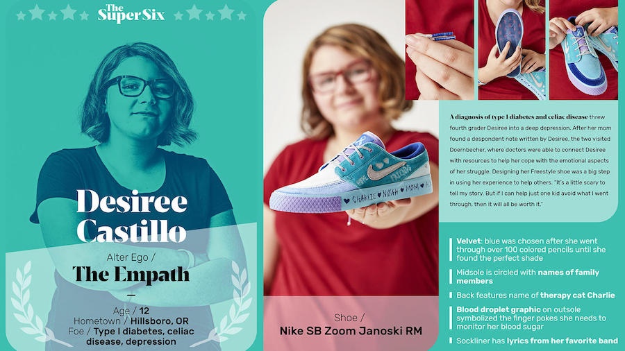 Desiree Castillo Nike SB Zoom Janoski RM Doernbecher Release Date Info