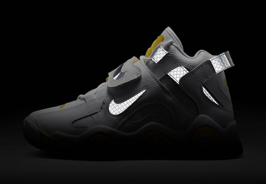 Nike Air Barrage Mid White Yellow Reflective CJ9574-100 Release Date Info