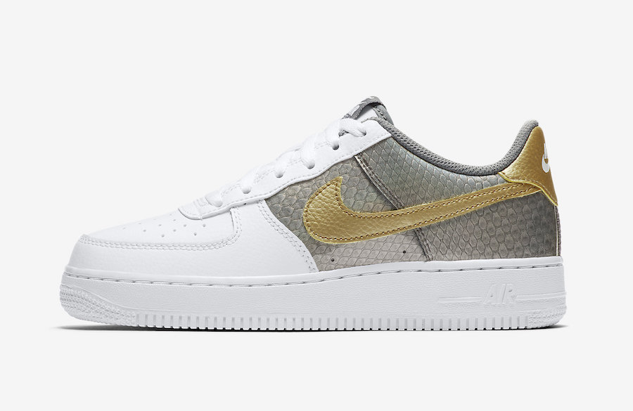Nike Air Force 1 Dragon Grey Gold CI3910-100 Release Date Info