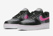 Nike Air Force 1 Low Black Grey Pink CJ9699-001 Release Date Info