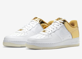 Nike Air Force 1 Metal Gold CU2991-197 Release Date Info