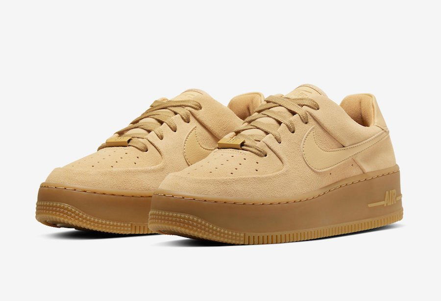 Nike Air Force 1 Sage Club Gold Suede CT3432-700 Release Date Info