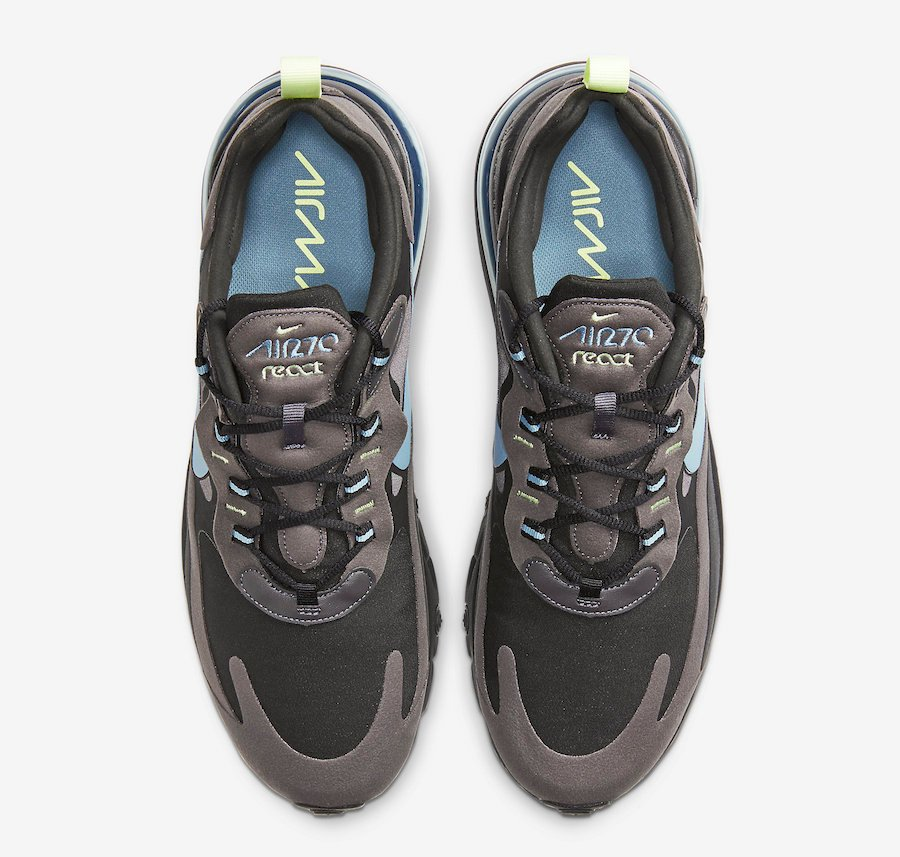 Nike Air Max 270 React Black Brown Blue CI3866-001 Release Date Info