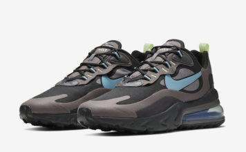 Nike Air Max 270 React Black Brown Blue CI3866-001 Release Date Info