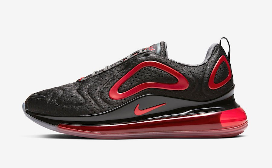 Nike Air Max 720 In Black And Red With Jersey Mesh Getswooshed