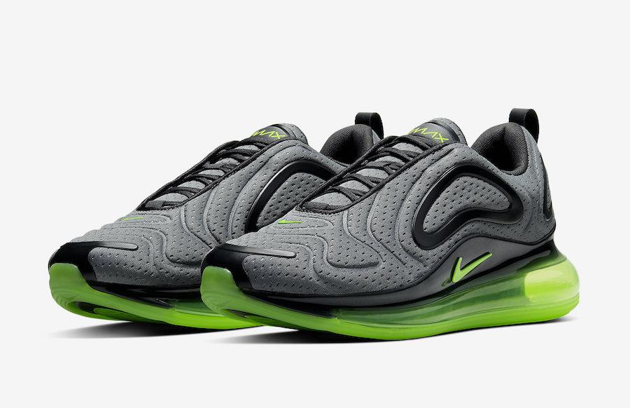 Nike Air Max 720 Grey Black Volt CN9833-002 Release Date Info