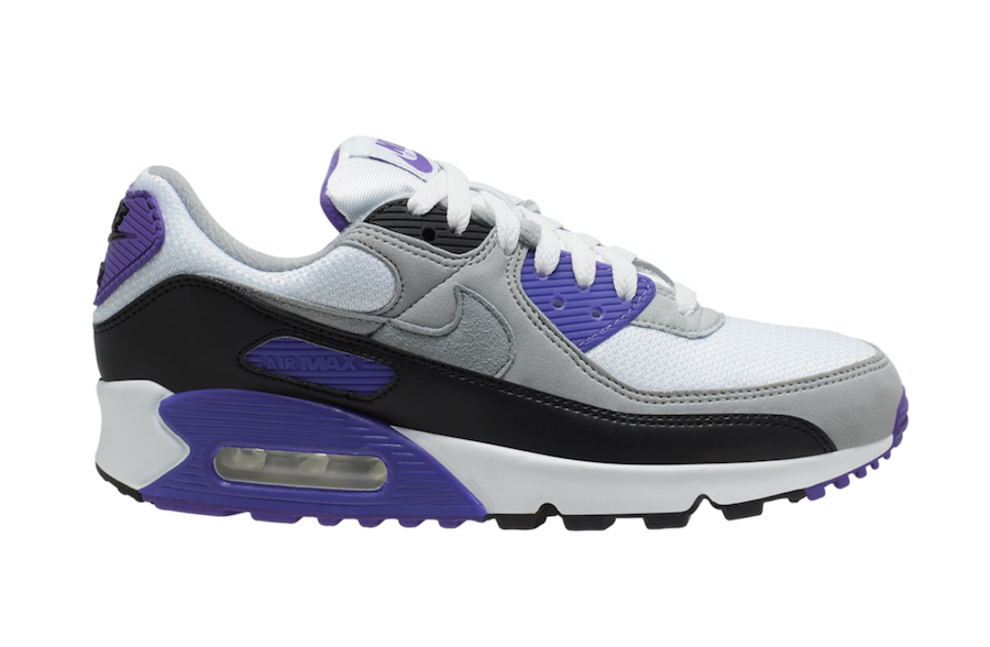 Nike Air Max 90 OG White Purple Grey Black CD0490-103 Release Date ...