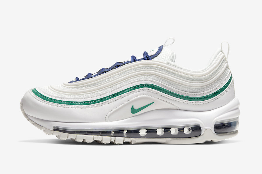 Nike Air Max 97 White Navy Green 921733-107 Release Date Info