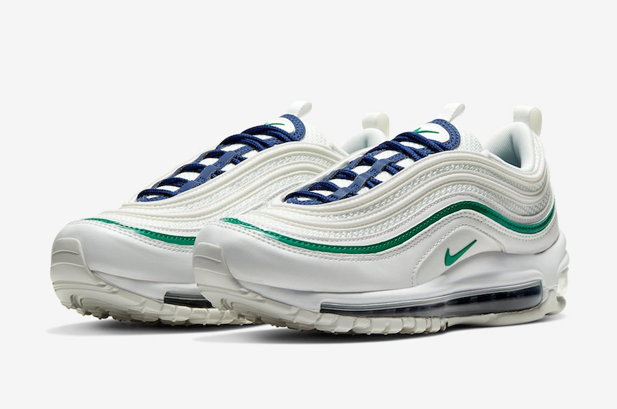 Nike Air Max 97 White Navy Green 921733-107 Release Date Info | SneakerFiles