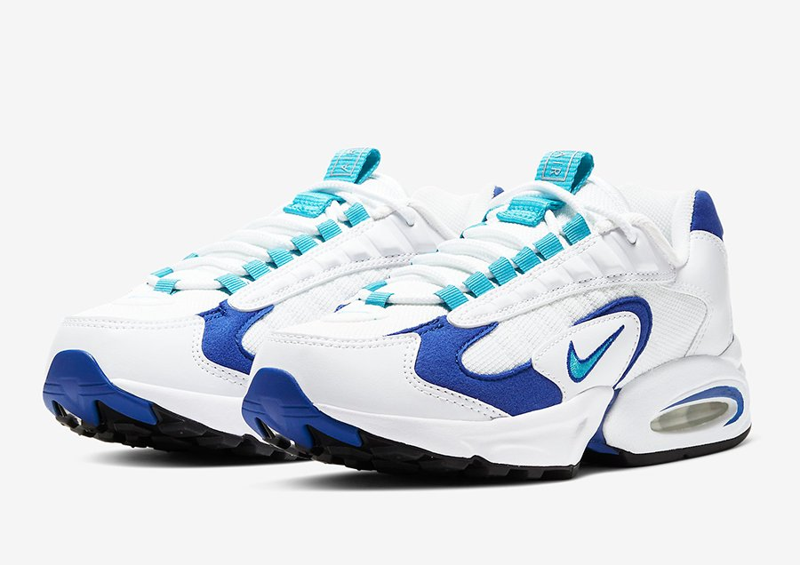 Nike Air Max Triax 96 White Varsity Royal Blue Spirit Teal CQ4250-101 Release Date Info