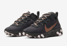 Nike React Element 55 Womens Bronze CT1186-001 Release Date Info