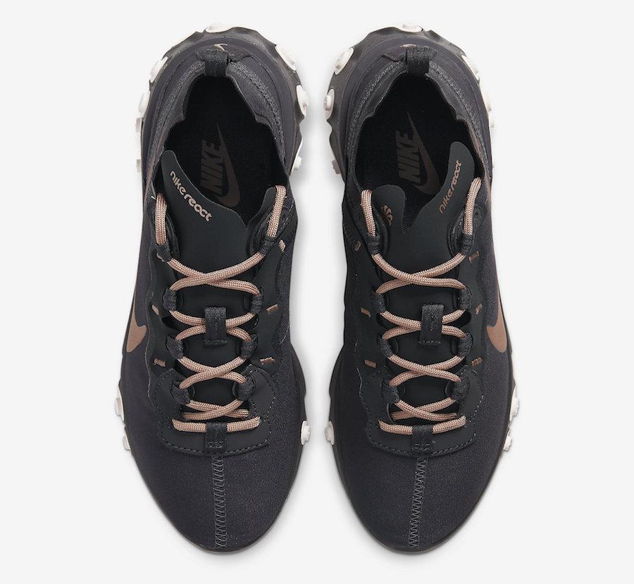 Nike React Element 55 Womens Bronze CT1186-001 Release Date Info