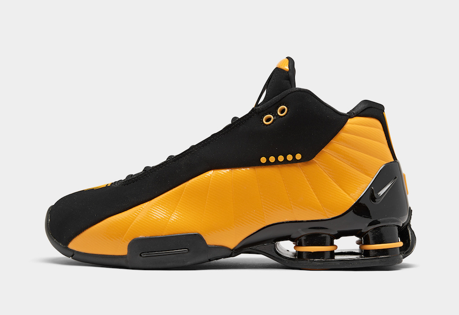 Nike Shox BB4 Black University Gold AT7843-002 Release Date Info