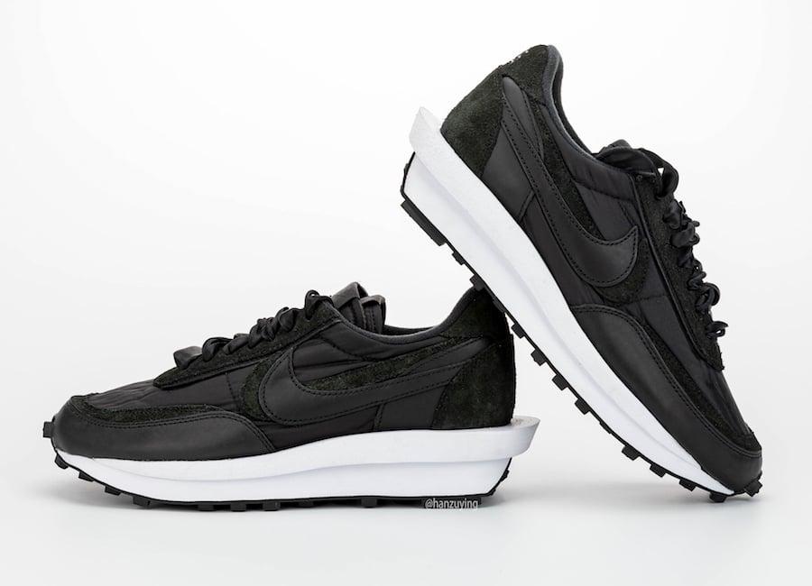 sacai Nike LDWaffle Black Nylon BV0073-002 Release Date