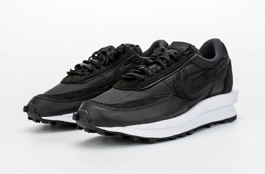 Sacai Nike Ldwaffle Black Nylon Bv0073 002 Release Date Info Sneakerfiles