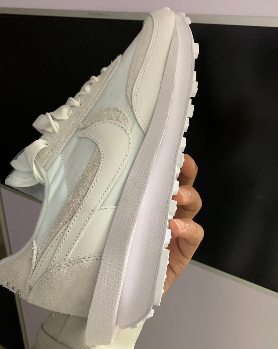 sacai Nike LDWaffle White Nylon Release Date Info