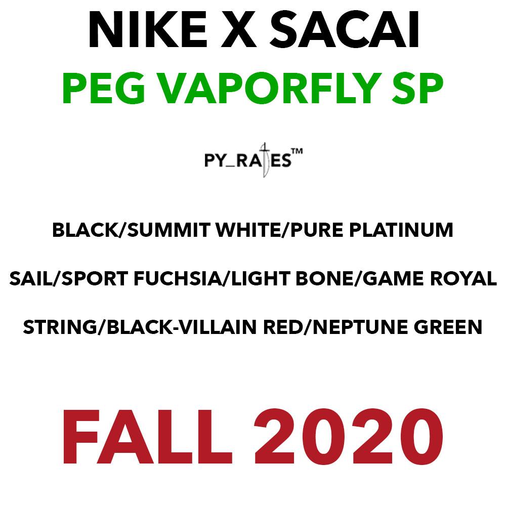 sacai Nike Pegasus VaporFly SP Release Date Info