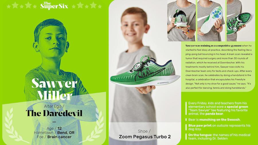 Sawyer Miller Nike Zoom Pegasus Turbo 2 Doernbecher Release Date Info