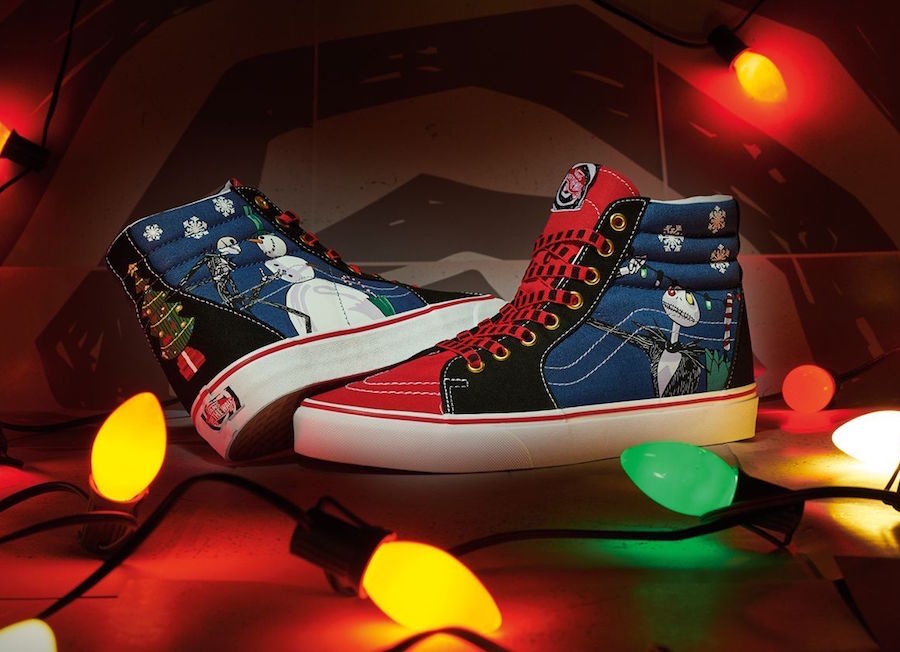 The Nightmare Before Christmas Vans SK8-Hi Christmas Town Release Date Info