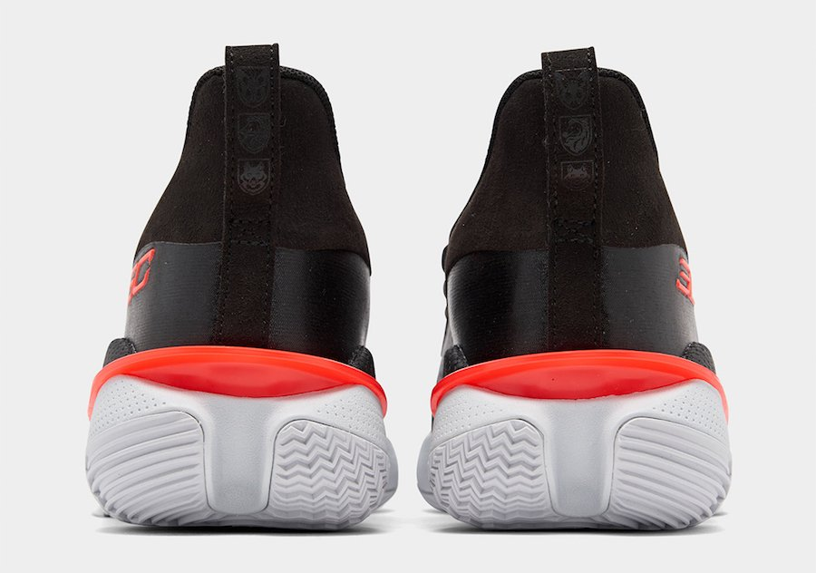 Under Armour Curry 7 Black Pitch Grey Beta Red Release Date Info