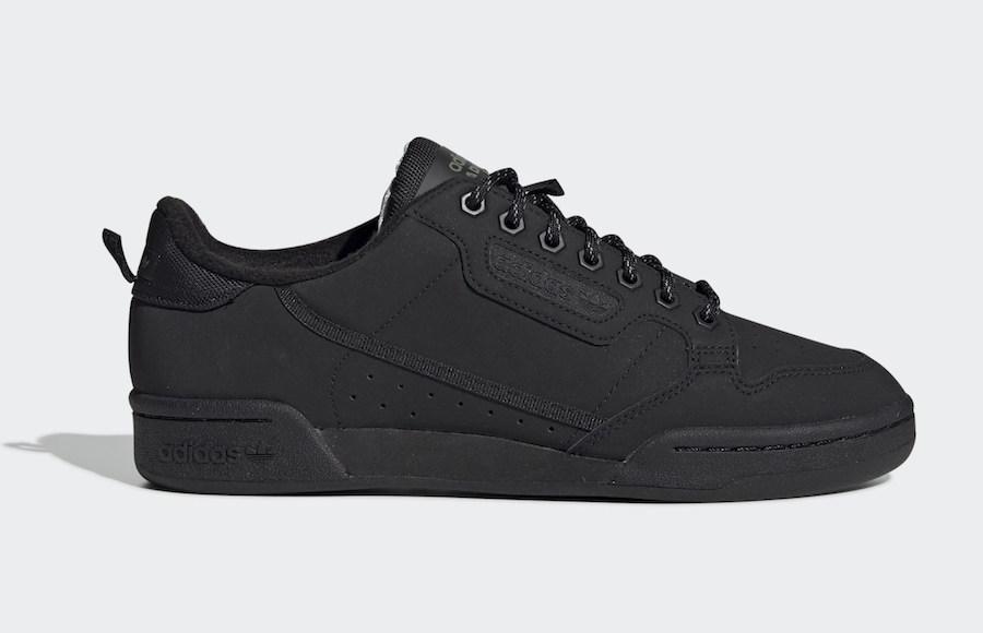 adidas Continental 80 Core Black Fleece FV4631 Release Date Info