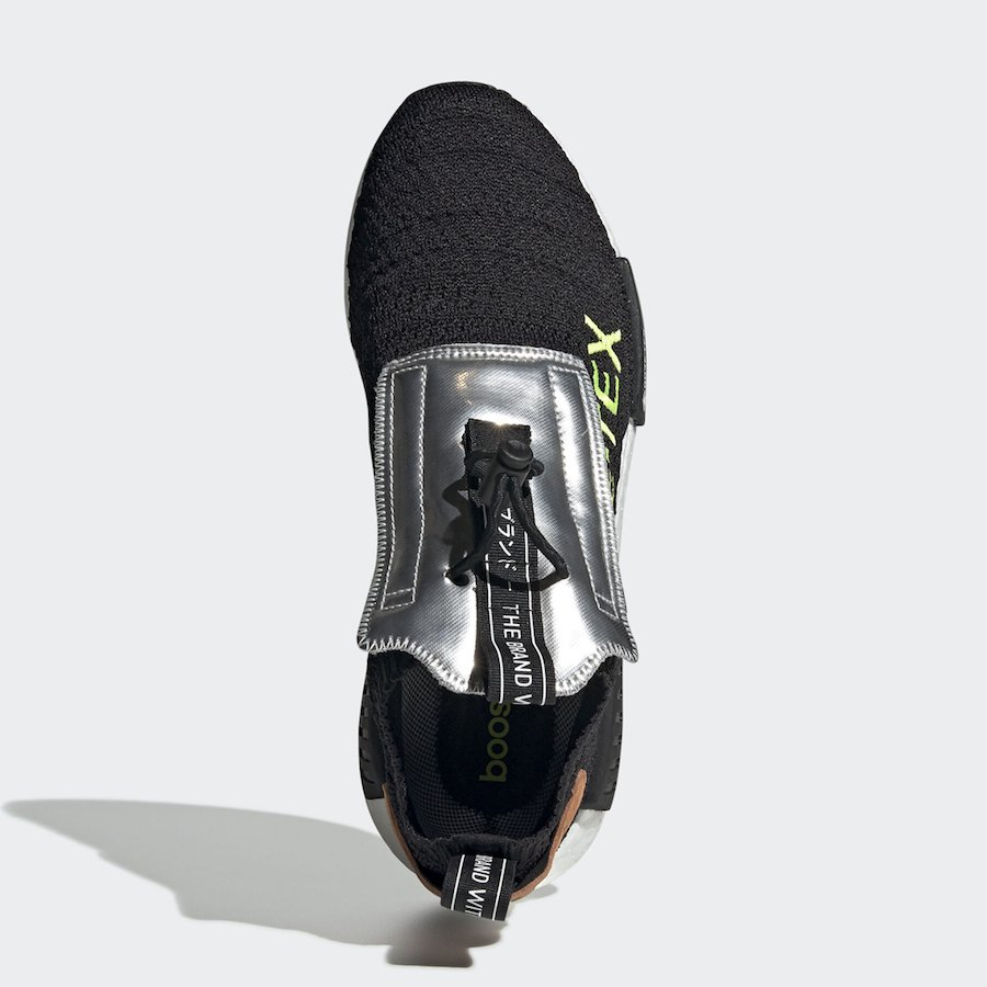 adidas NMD TS1 Gore-Tex Black Solar Yellow EE5895 Release Date Info