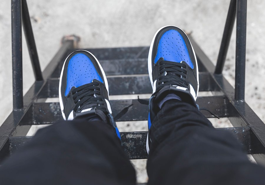 Air Jordan 1 Game Royal 555088-041 On Feet
