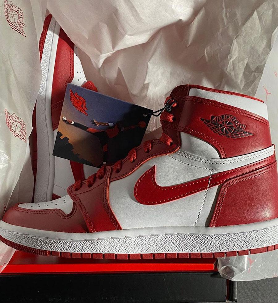 Air Jordan 1 High OG 1985 Red White Release Date Info