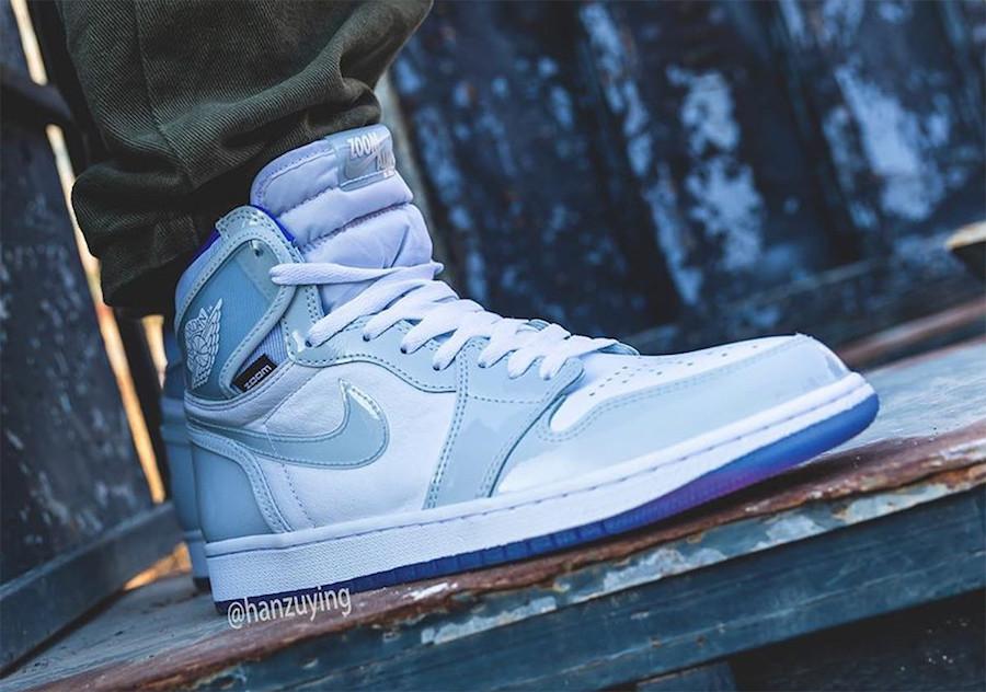 Air Jordan 1 High Zoom Racer Blue CK6637-104 On Feet
