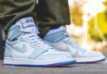 Air Jordan 1 High Zoom Racer Blue CK6637-104 On Feet