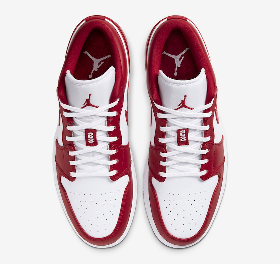 Air Jordan 1 Low Gym Red White 553558 611 Release Date Info