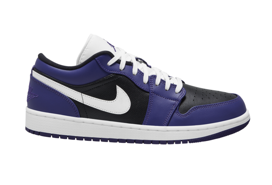 Air Jordan 1 Low Purple Black 553558-501 Release Date Info