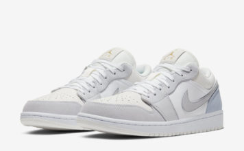 Air Jordan 1 Low White Sky Grey Football Grey CV3043-100 Release Date Info