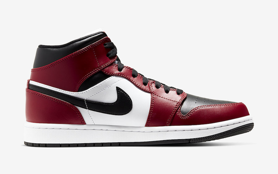 Air Jordan 1 Mid Chicago Black Toe 554724-069 Release Date