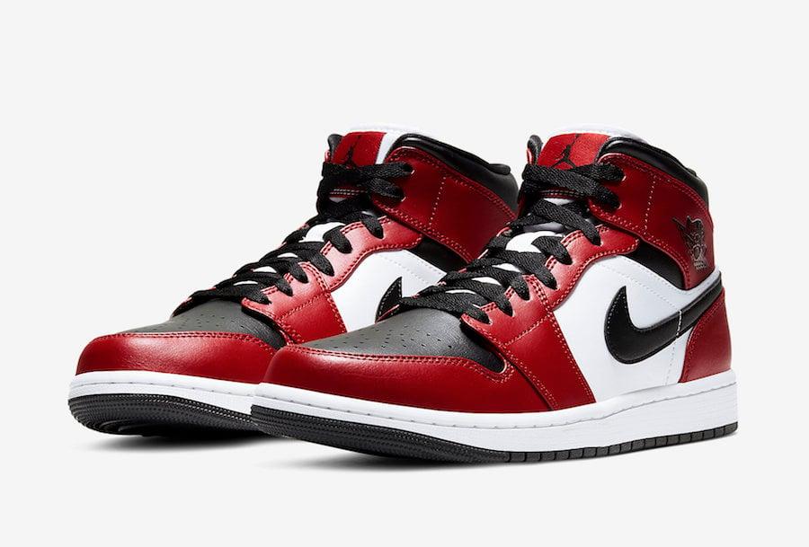 Air Jordan 1 Mid Chicago Black Toe 554724-069 Release Date ...