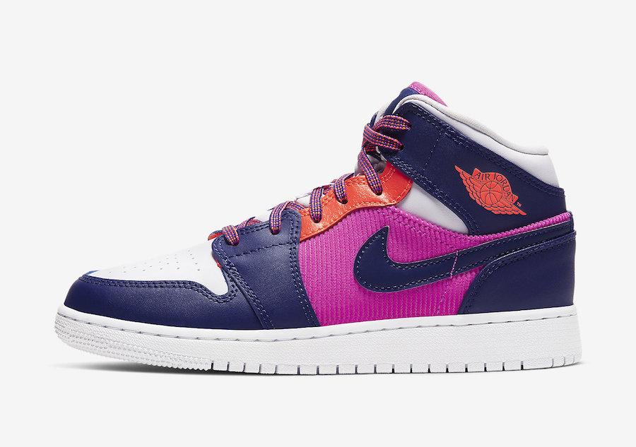 Air Jordan 1 Mid GS Fire Pink 555112-602 Release Date Info
