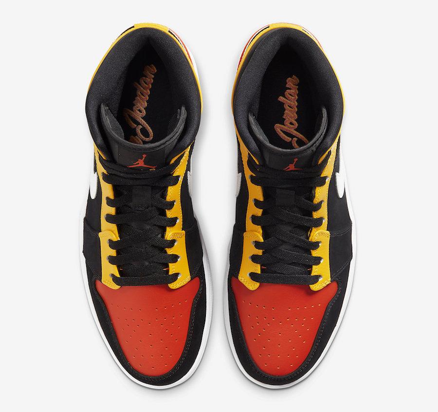 Air Jordan 1 Mid SE Black Amarillo Team Orange 852542-087 Release Date Info