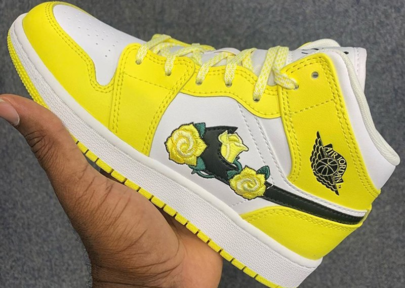 Air Jordan 1 Mid Yellow Flower Release Date Info