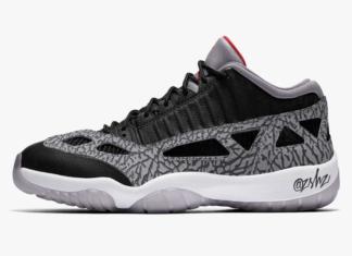 Air Jordan 11 Low IE Black Cement 919712-006 Release Date