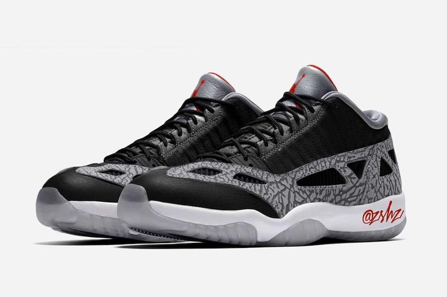 Air Jordan 11 Low IE Black Cement Release Date Info