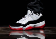 Air Jordan 11 Low White Bred AV2187-160 On Feet