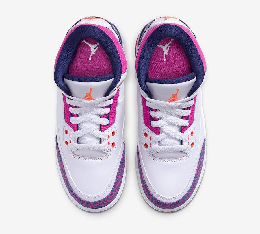 Air Jordan 3 GS Barely Grape Hyper Crimson Fire Pink 441140-500 Release
