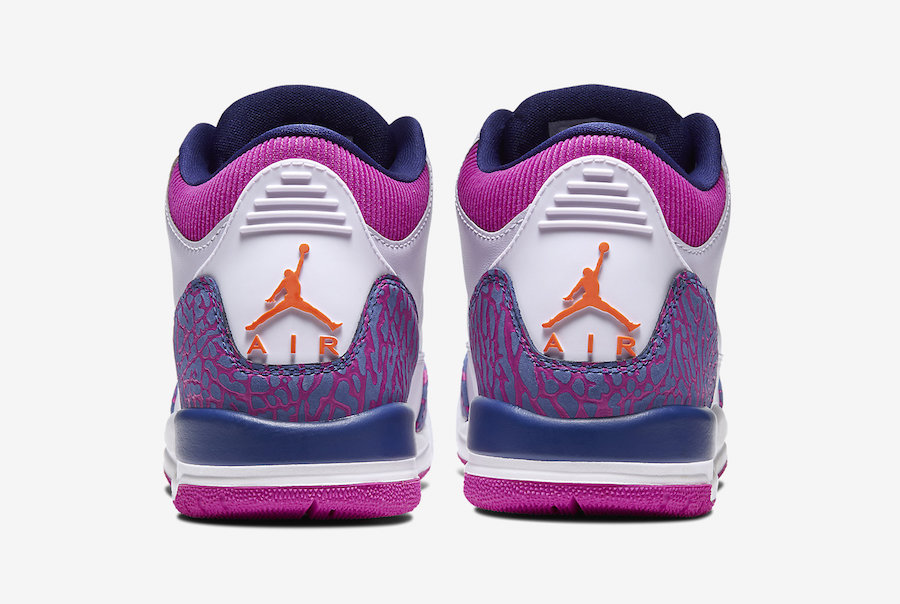 Air Jordan 3 GS Barely Grape Hyper Crimson Fire Pink 441140-500 Release