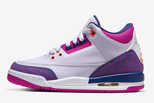 Air Jordan 3 GS Barely Grape Hyper Crimson Fire Pink Release Date