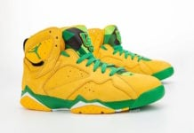 Air Jordan 7 Oregon Ducks Yellow Green