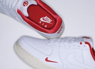 Kith Nike Air Force 1 White Red Release Date