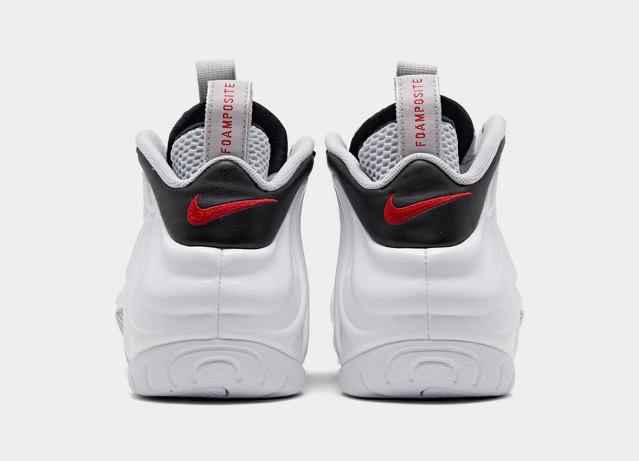 Nike Air Foamposite Pro White University Red Black 624041-103 Release Info
