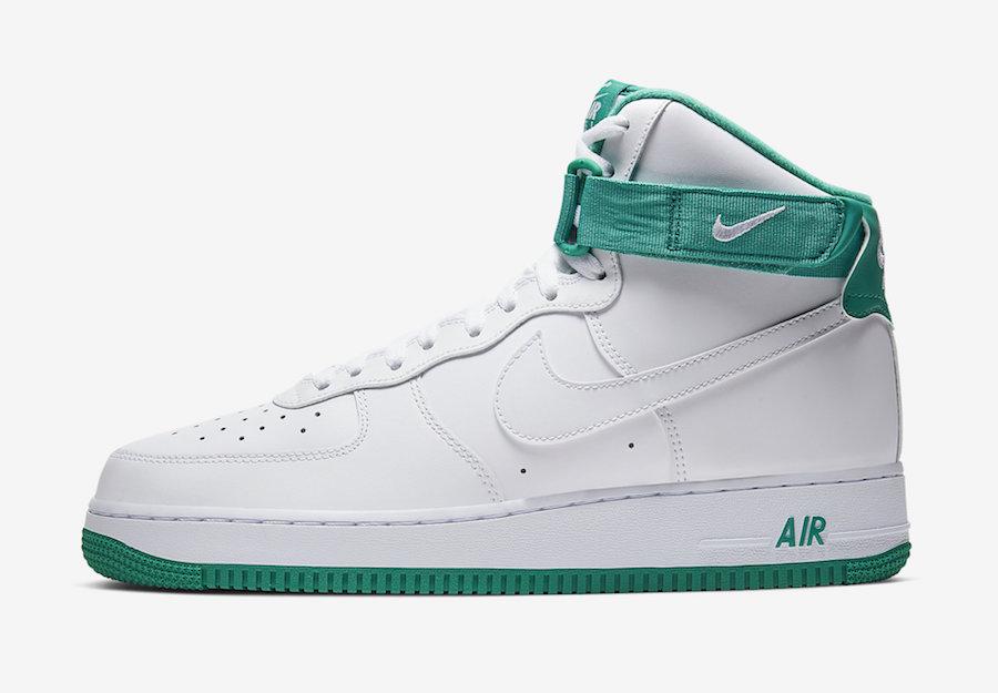Nike Air Force 1 High Neptune Green CD0910-101 Release Date Info