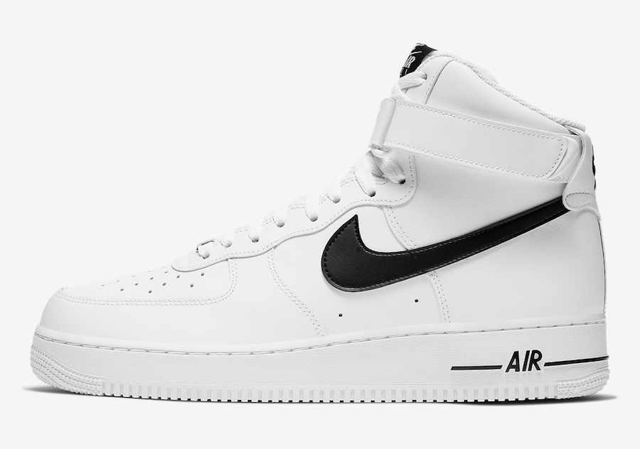 Nike Air Force 1 High White Black CK4369-100 Release Date Info